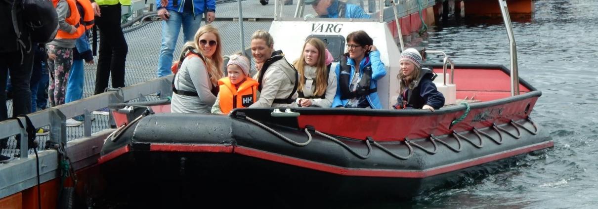 Open dag Steinvik Fiskefarm Visningssenter